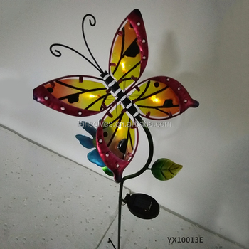 Wholesale Metal Stick Animal Design Solar Butterfly Garden Stakes For  Outdoor Decoration