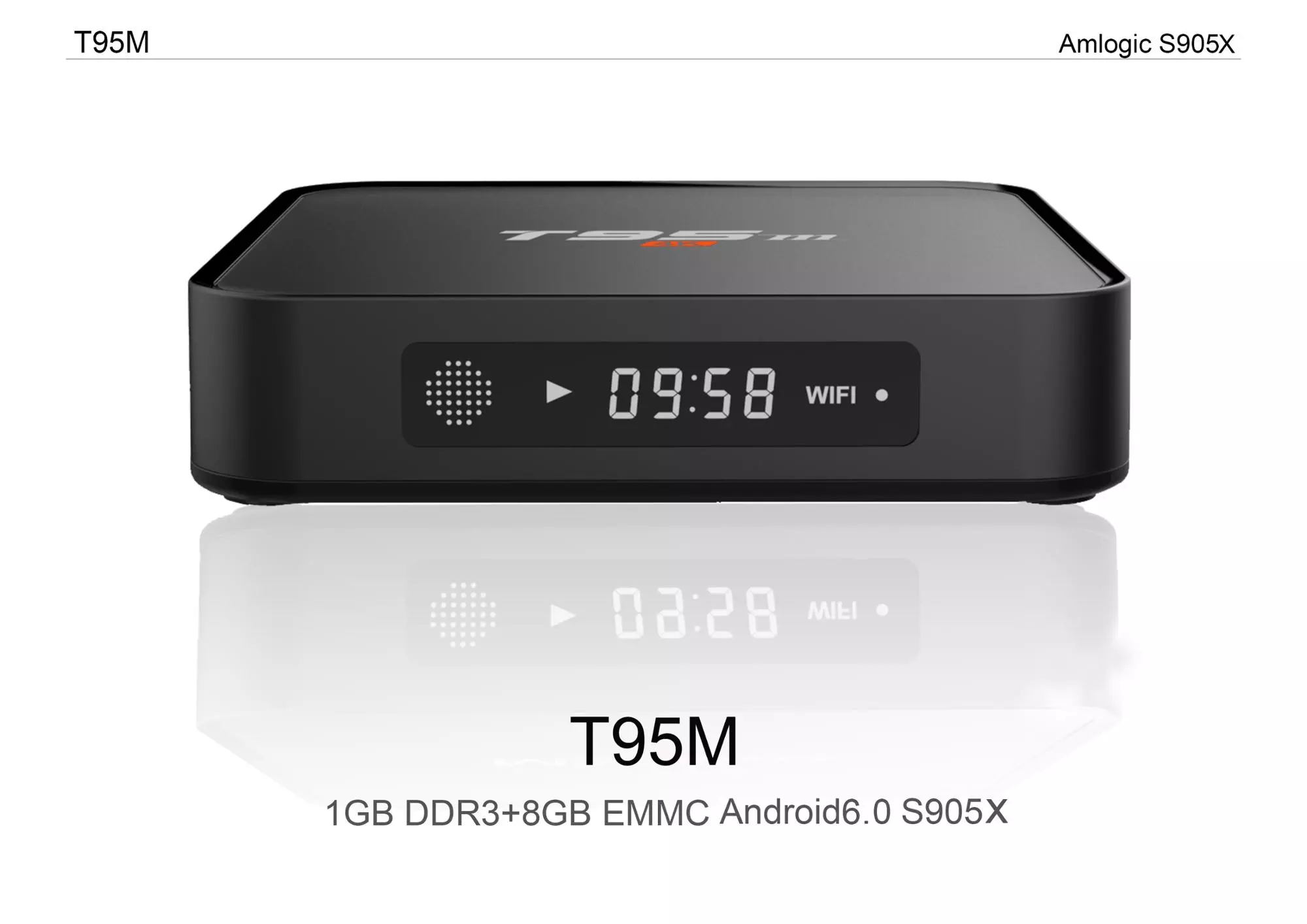 High quality T95m amlogic s905x smart android 6.0 tv box smart android tv box