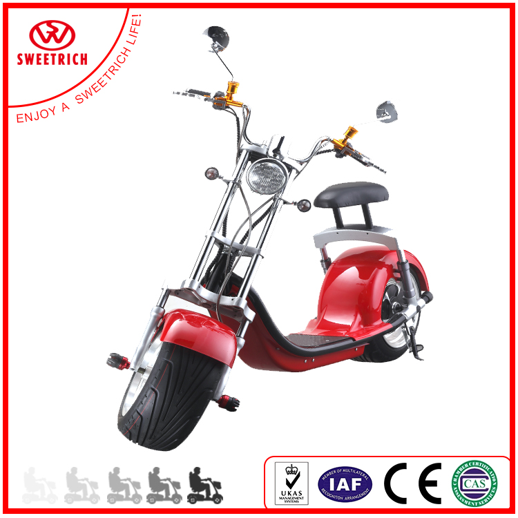 Wholesale Promotional Citycoco 2 wheel Electric Motorcycle Scooter parts 1000W 2017