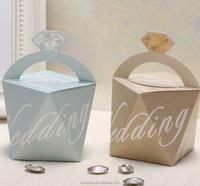 Elegant Wedding Favor 5.6x5.6x5.6 cm Diamond Shaped Paper Candy Box