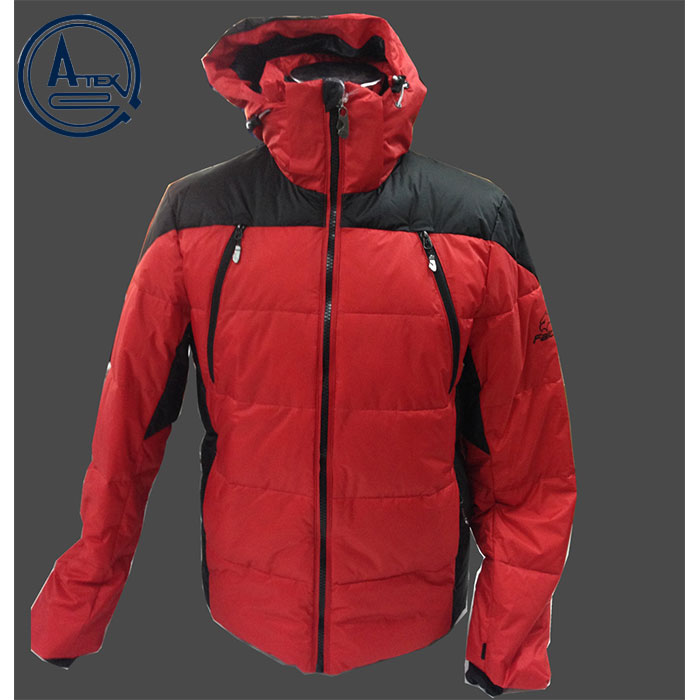100% nylon fabric silk padded men jacket