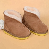 Plush comfortable baby boys snow boot winter warm wool shoes sheepskin ankle boot