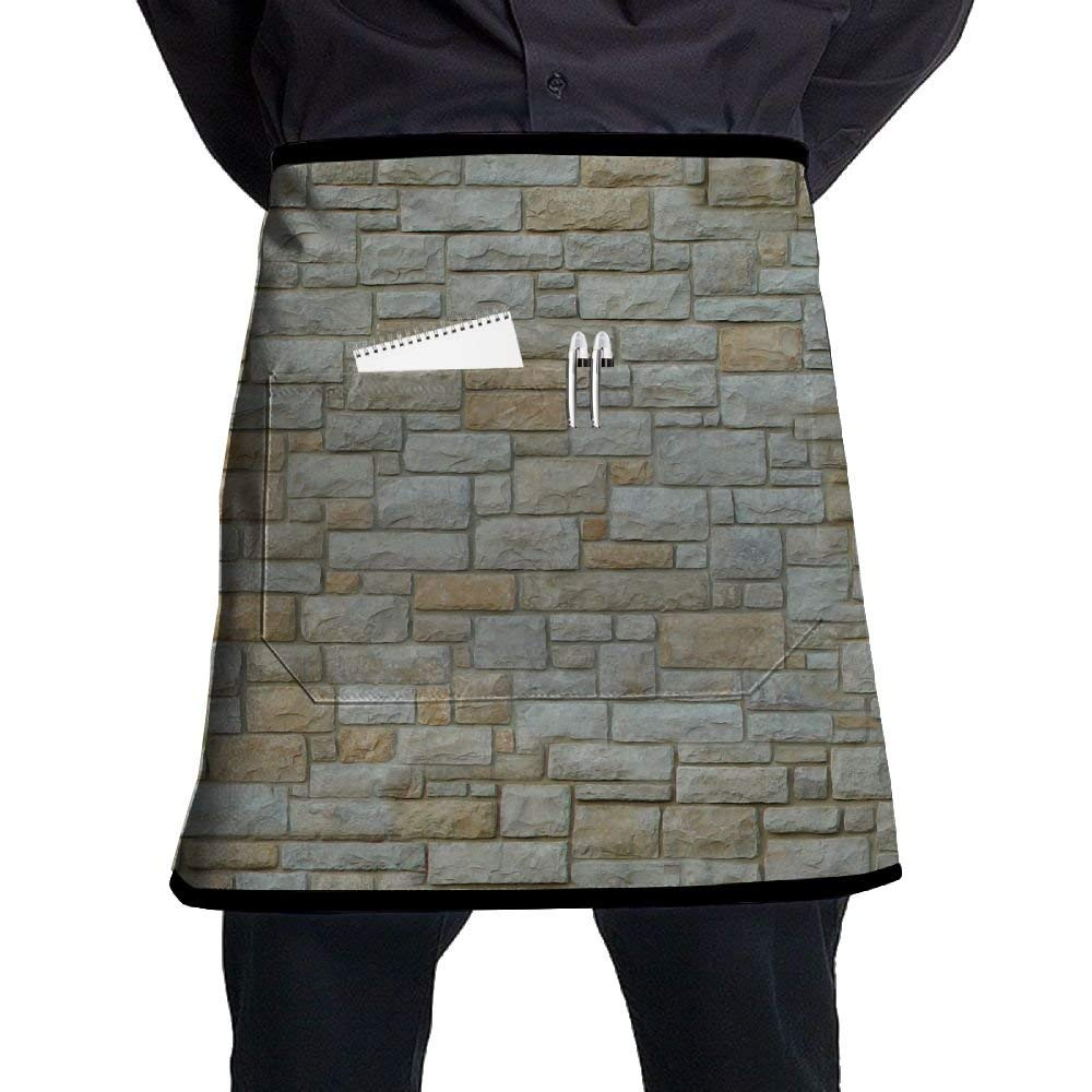 SG ULTIMATE INNO Stone Wallpaper Waist Aprons With 2 Pockets For Waitress, Waiter, Chef, Baker, Servers, Waist Tie Half Waist Apron For Men & Women