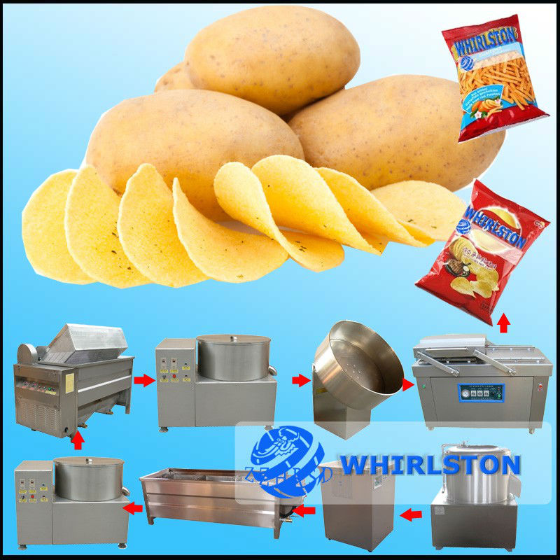 best quality automatic oil fried potato chips making machine