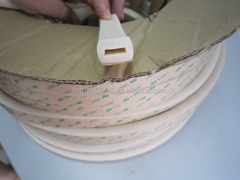 Adhesive sticker Silicone sponge tube/silicone foam tube as per drawing