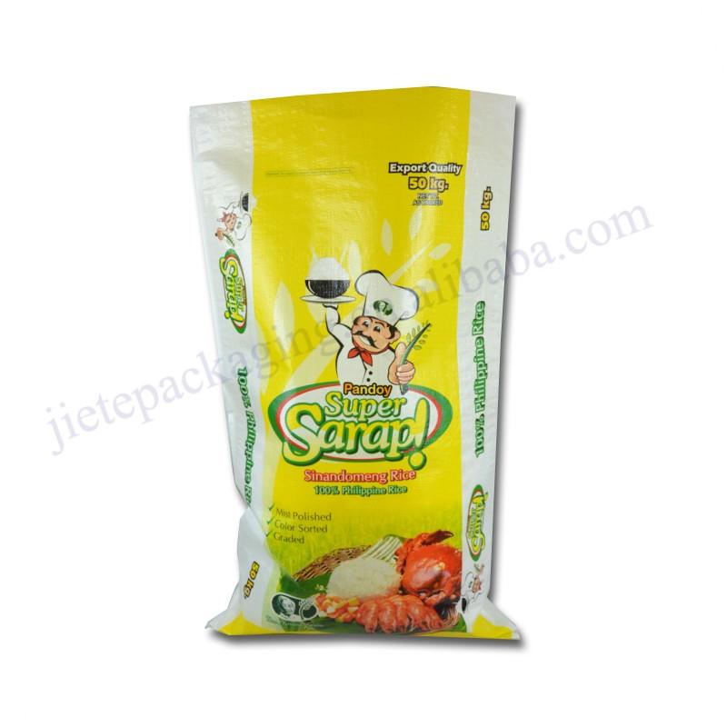 Bopp lamellierte pp-Reispacksack 50kg landwirtschaftliche Verwendung für den Export