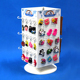 gifts shop presentation magnet stickers spinning merchandising display rack with four sides