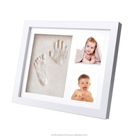Superior Quality Clay Hand Foot Print Baby Photo Frame First Year Souvenir