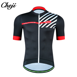 CHEJI 2019 New Design Mens Bike Jersey Short Sleeves Polyester Quick Dry  Cycling Tops MITI Elastic 2028c09a9