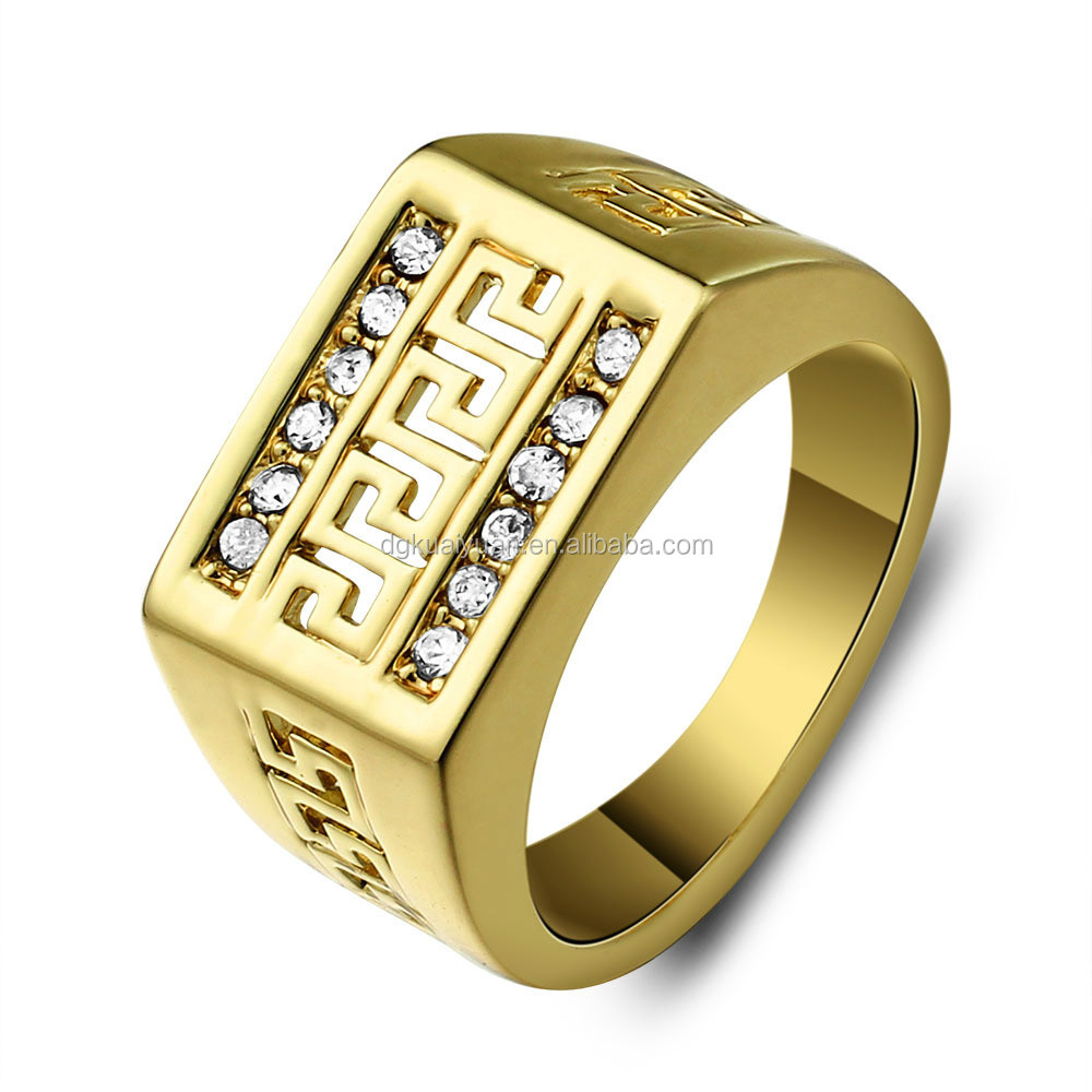Wholesale stainless steel 18k gold jewelry good price iraq ring