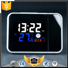 Digital Alarm Clock with Soft LED Nightlight Snooze Indoor Time Day Date Display Bedside Clock with Thermometer&Hygrometer
