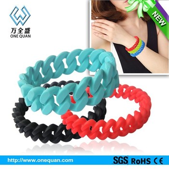 China Manufacturer Customized Braided Silicone Wristbands