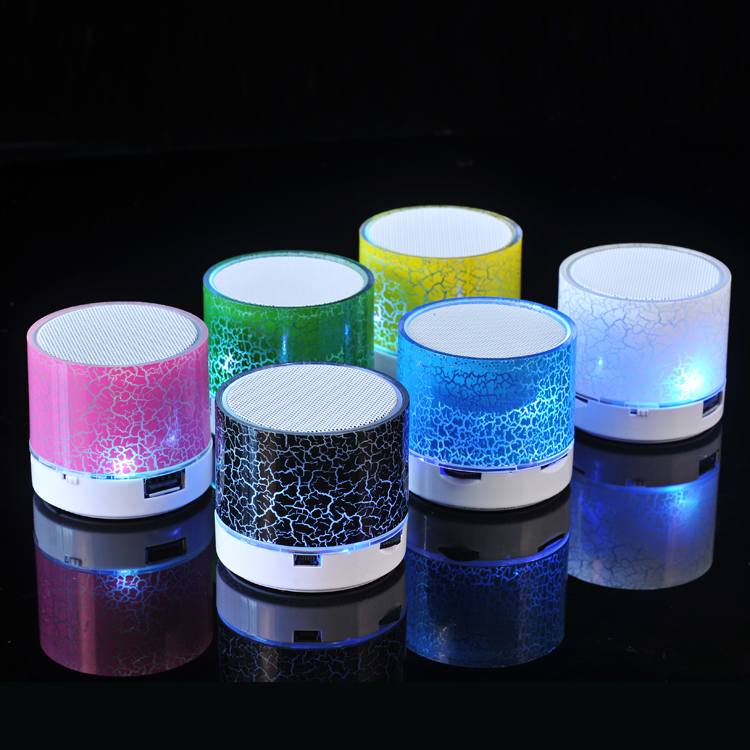 Colorful LED Light Column Blue Tooth Speaker with FM Radio