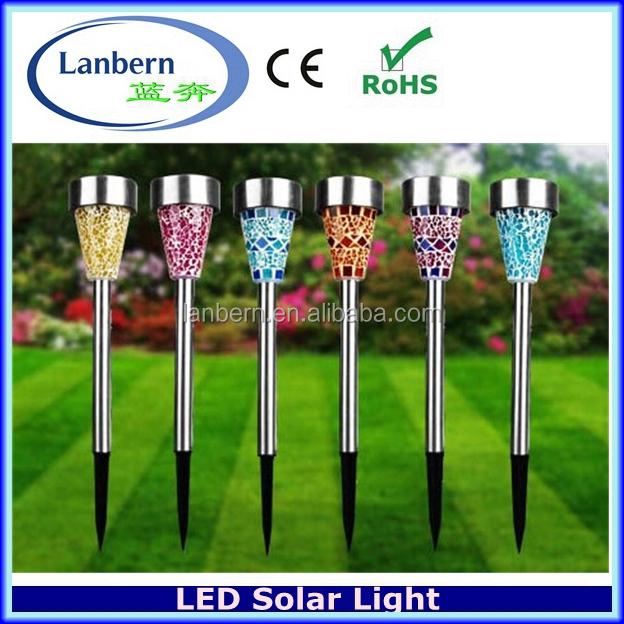 Mosaic Light Multi Colored Solar Garden Lights Outdoor Cafe Lights JD 142A