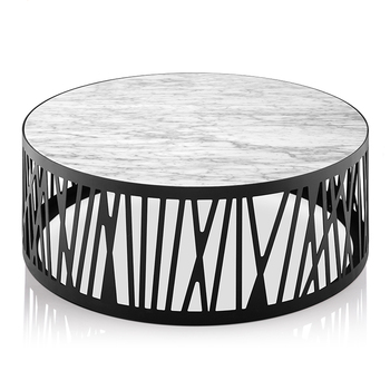Lc 016 Modern White Round Marble Center Coffee Table With Black Metal Leg  For Office And Home Or Public Space   Buy Round Marble Top Coffee ...