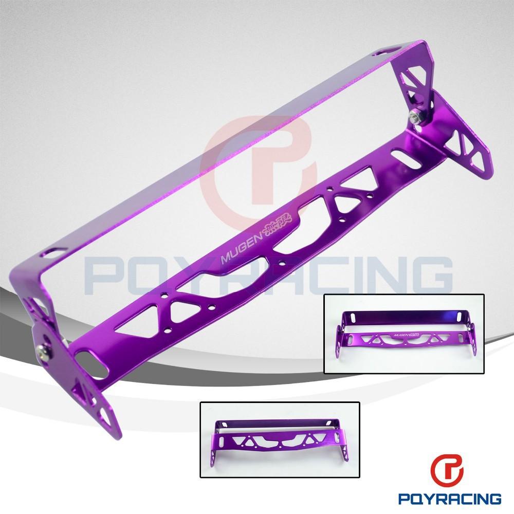 Pqy Store-mugen Coche Universal De Aluminio Placa Marco Marcos Tag ...
