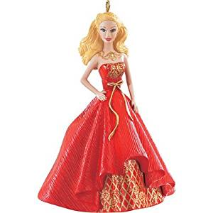 Barbie Christmas Ornament.2014 Holiday Barbie Christmas Ornament Blonde From The American Greetings Heirloom Ornament Collection Caucasian White Version