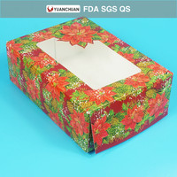 Most popular disposable customized Christmas food packing box
