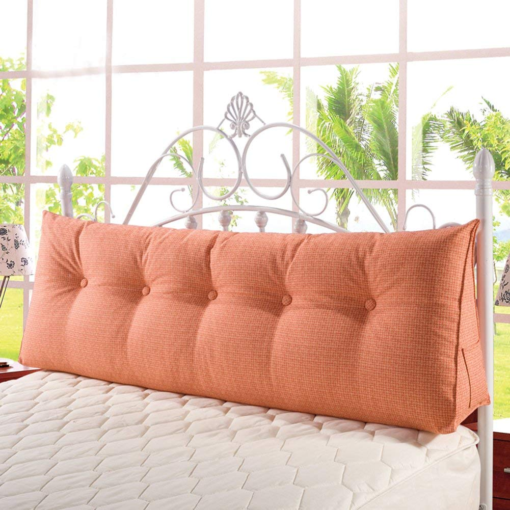b39296738bb7 VERCART Large Soft Upholstered Headboard Sofa Bed Filled Triangular Bed  Backrest Positioning Support Wedge Cushion Reading