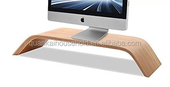 Bamboo Wooden Monitor Stand Monitor Riser Stand