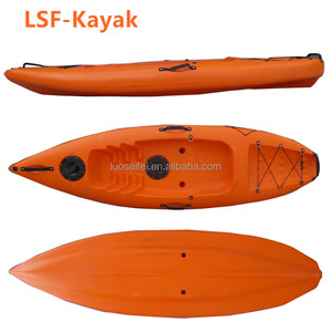 2018 China OEM wholesale clear hot sale LDPE small single sit on top cheap ocean Kayak with paddle