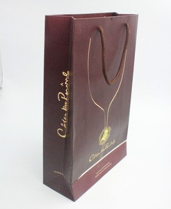 Fashionable Paper Bags Template Well Design For Drinks