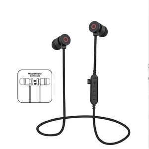 T9 Metal Magnetic Wireless Earphone Headset Sport Wireless Headset With Microphone TF memory card slot