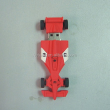 factory price plastic f1 racing car usb flash drive