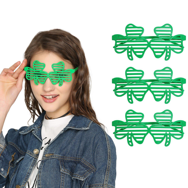 53e15bfe19fe Get Quotations · St. Patricks Day Shamrock Glasses