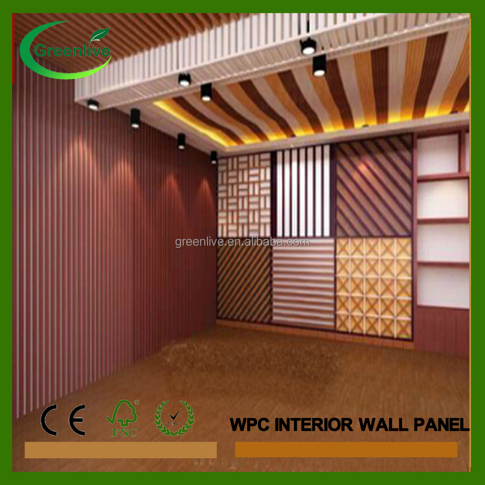 interior paneles de pared de material compuesto de madera plstico barato