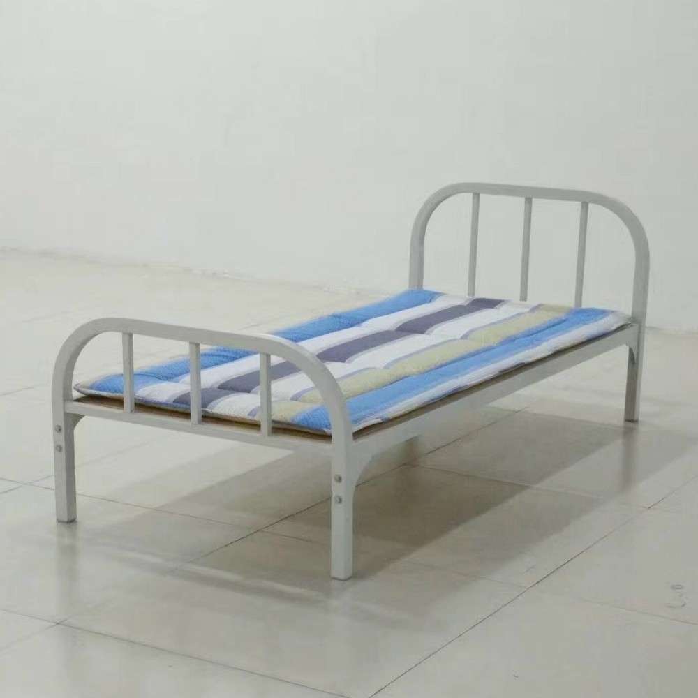 V99bfm01 powder coated metal tube frame twin metal bed Metal bed frame twin