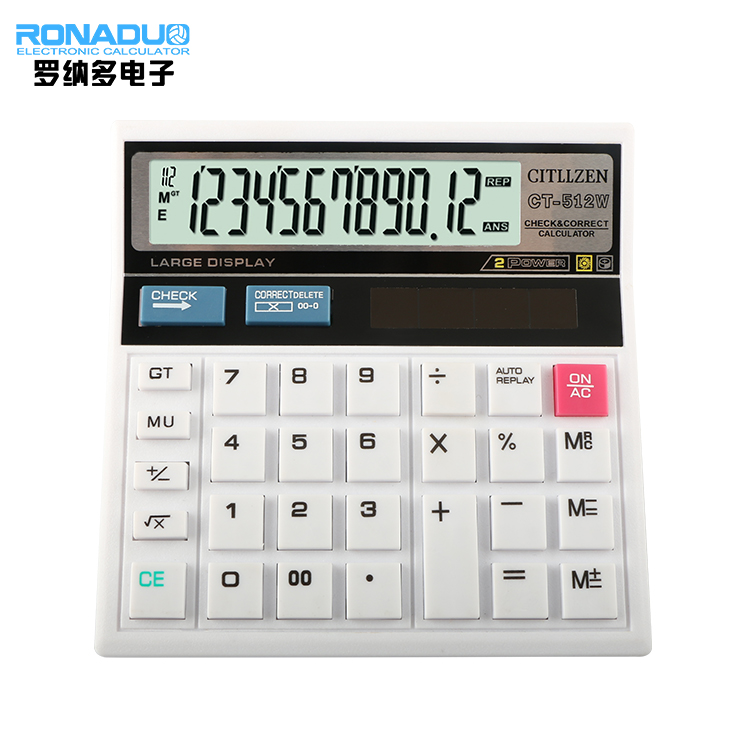 Auto Check Calculator Ct 512 White Est With Great Quality