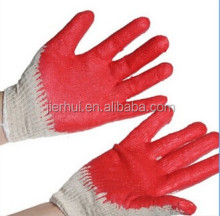 10G rubber palm coated safety gloves