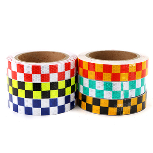 High visibility light checkered honeycomb reflective tape