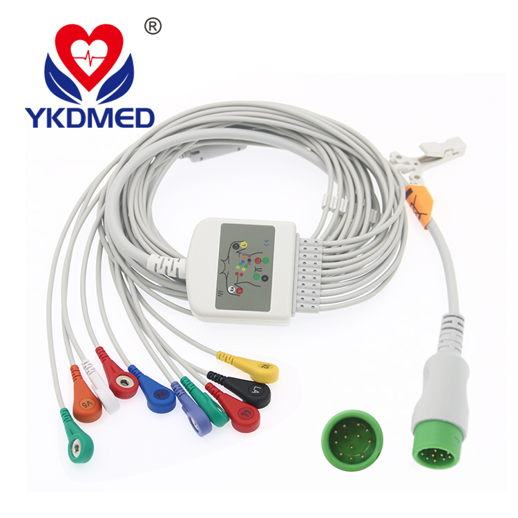 Comen 12 pin ekg cable  with leadwires