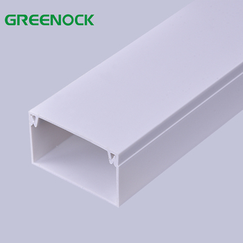 Factory price fire resistance electrical pvc cable trunking pvc wire small wall wire duct for maldives market