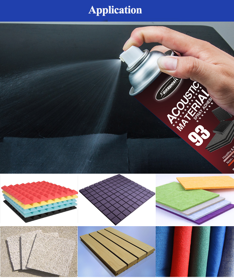 Sprayidea 93 Home application wall soundproofing decorative acoustic fiber foam adhesive glue