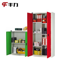 Asian Office Furniture 2 Doors Steel Filing Wardrobe Storage Cabinets