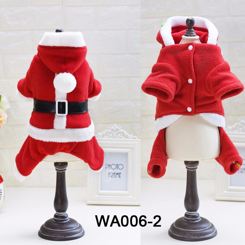 Double Fleece Keep Warm Christmas Dog Sweater Winter Pet Clothes Boy and Girl Design