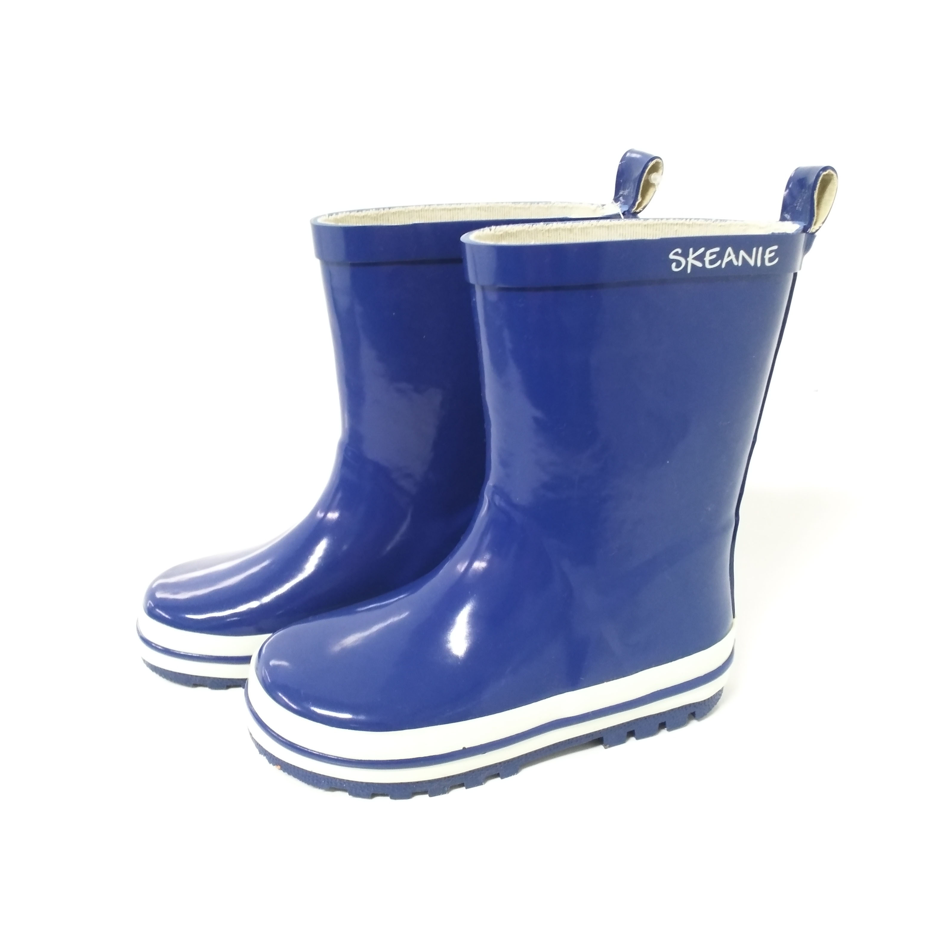BLue plain Cheap navy rubber BOYS children rainboots