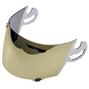 Arai Face Shield Profile Dirt Bike Motorcycle Helmet Accessories - Coated Gold Mirror / One Size