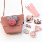 Fashion Baby Girls Hair Accessories Set Cute Messenger Bag Hair Clip Set