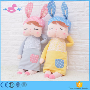new design rabbit hot sale plush rag doll of high quality