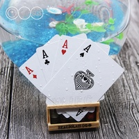 Golden Plastic Poker Cards Advertisement Clear Plastic Playing Cards Manufacturer