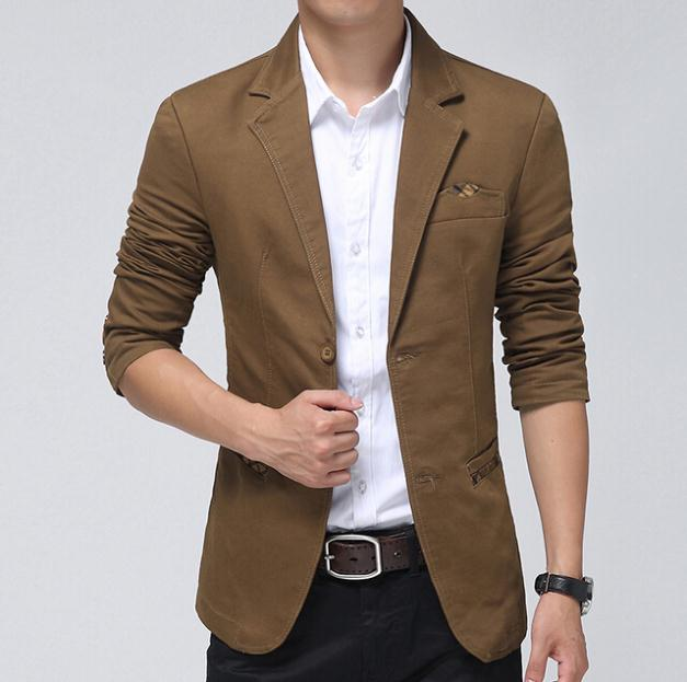 Casual Blazer Men Khaki,Brown, Black Fashion Slim Mens ...