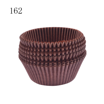 #162 Bakest coffee color greaseproof paper cake cup with stripe package
