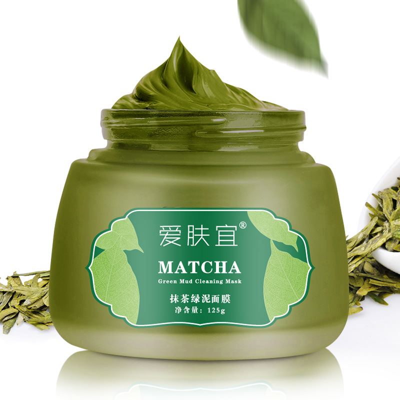Best selling AFY Matcha Face Mask 125g mineral slurries remove blackhead matcha cleansing mud mask