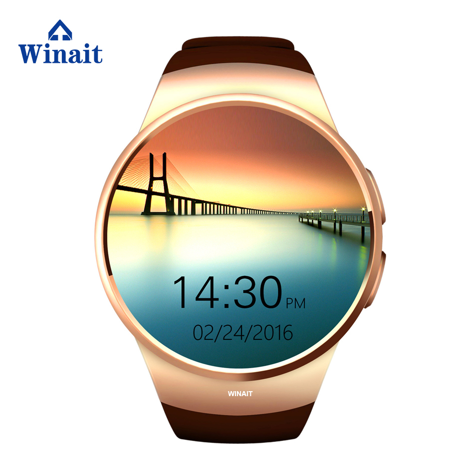 KW18 Smart Watch <strong>SIM</strong> 1.3 Inch Round Smartwatch Heart Rate BT 4.0 <strong>SIM</strong>+TF Card Support Better Than GV18 GT08 Smart Watch