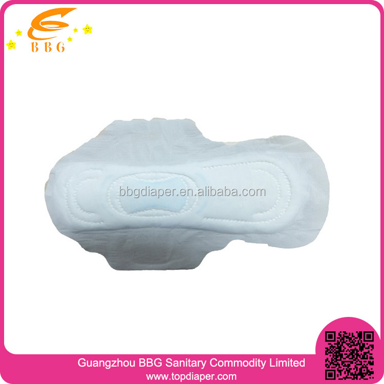 Imported raw materials perforated top film lady ultra thin sanitary napkin disposable