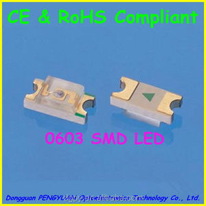 High Quality 0603 smd led Red/Orange/Yellow/Yellow Green/Pure Green/Blue/Purple/White/Pink Lighting Diodes ( CE & RoHS )